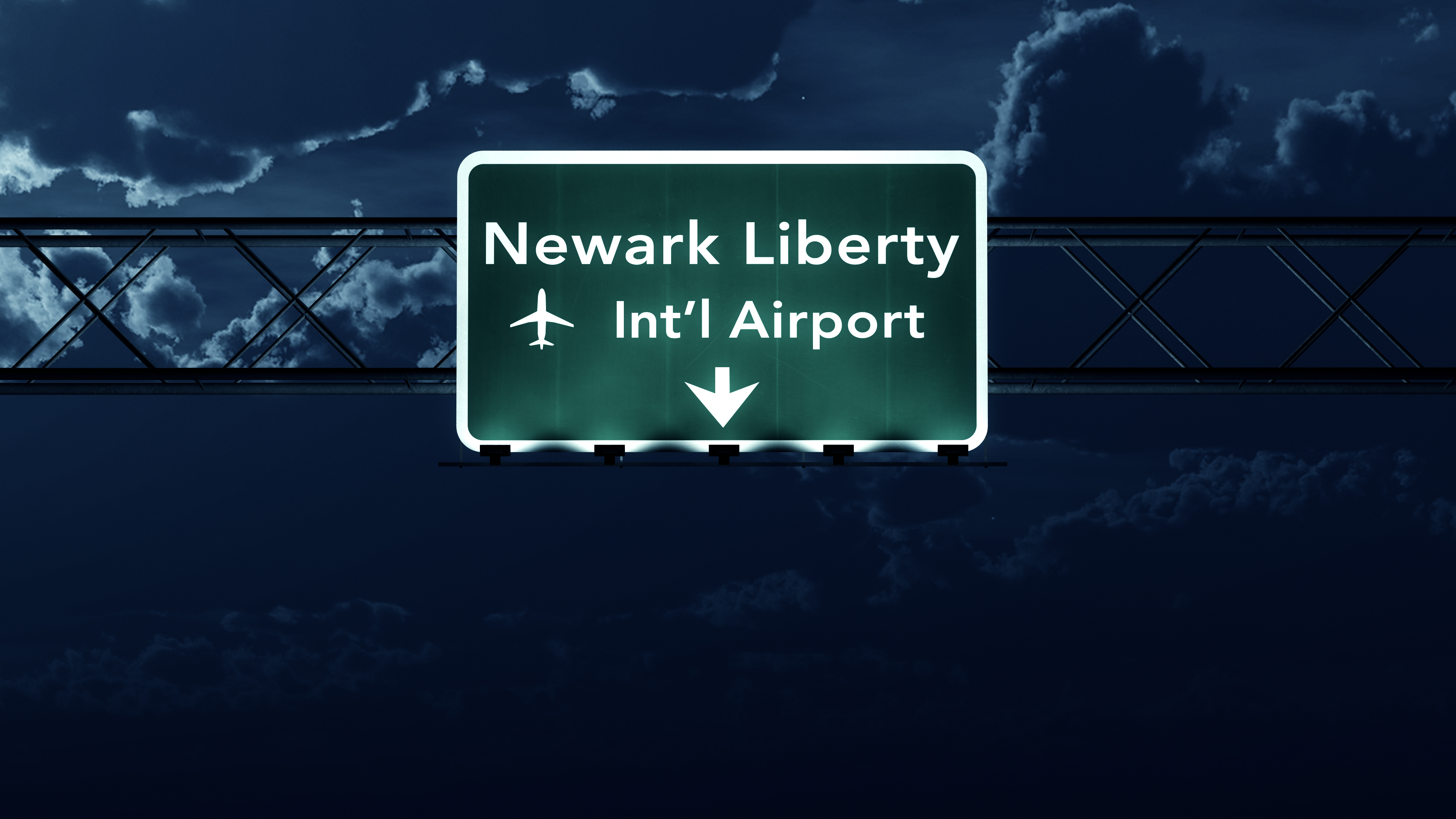 EWR airport directions at night